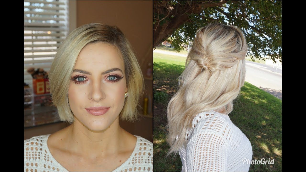 Half Updo For Short Hair With Extensions Hair Extensions For Short Hair Short Hair Updo Long Hair Extensions