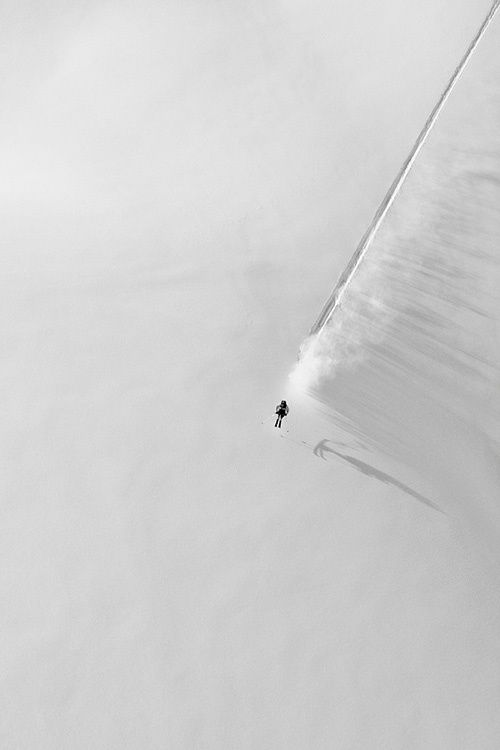 Ski the fall line. Turning is for wimps! #skiing #powder #off-piste