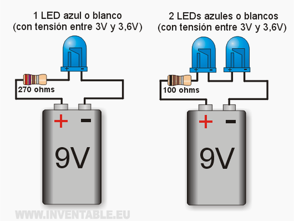 Leds A 9v Por Ejemplos Taringa Electronics Projects Diy Electronics Basics Led Light Projects