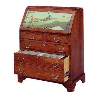 Jasper Cabinet Arlington File Drawer Secretary Desk Finish Rich