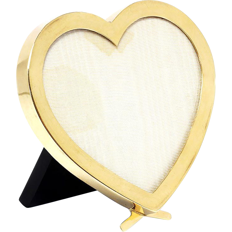 Authentic Vintage Cartier Picture Frame Heart Shape Solid 14kt Yellow Gold Amp Bakelite Heart Picture Frame Vintage Cartier Picture Frames