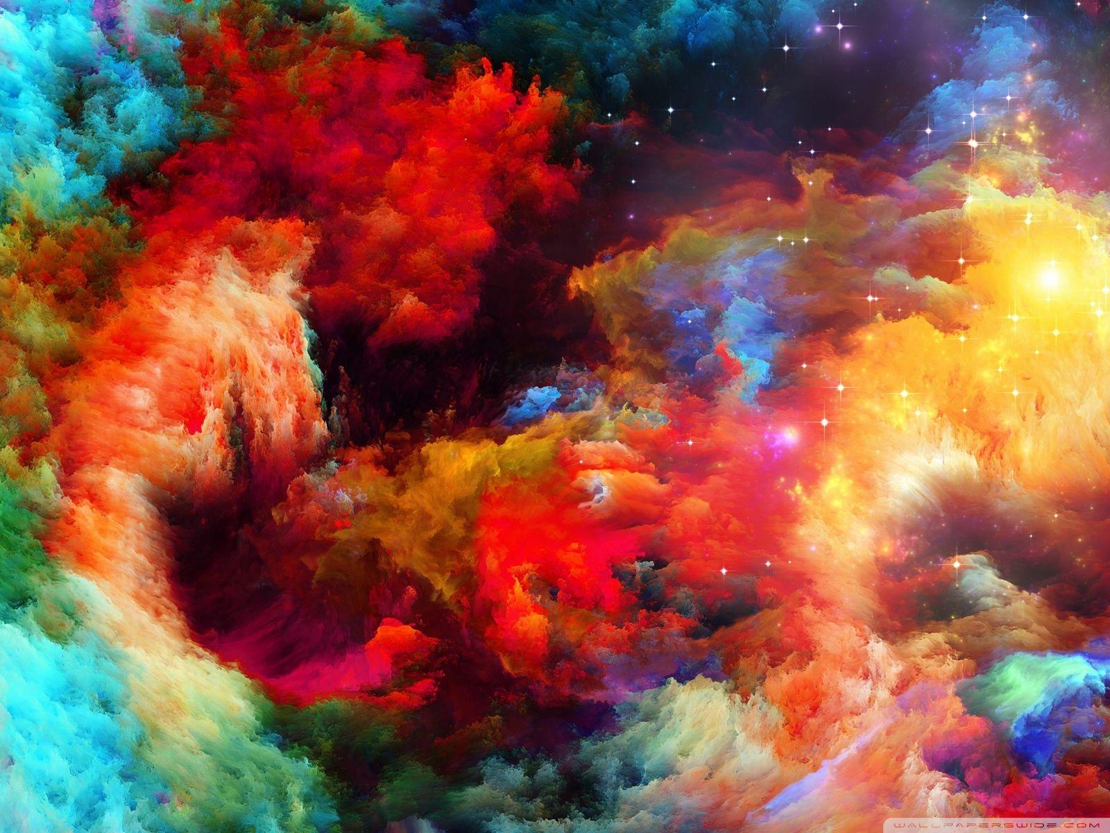 Rainbow Super Nova wallpaper
