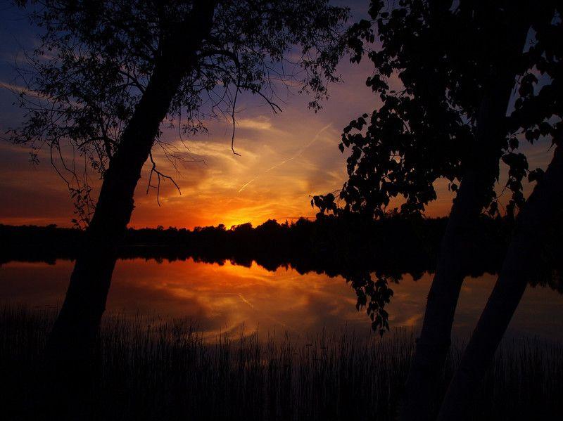 Grand Rapids, MN Beautiful orange and purple sunset