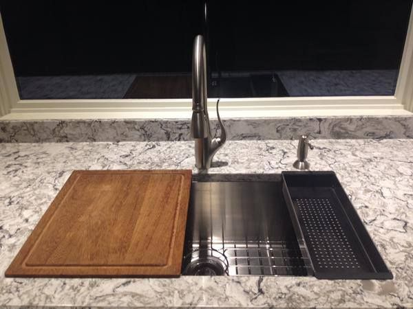 RMDdesigns Shares A Fabulous Franke KITCHEN SYSTEM Install With The New  Planar Sink, Custom Cutting