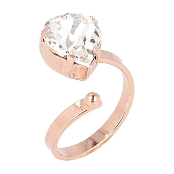 Otazu Hearts Rose Gold-plated Ring ( 74) ❤ liked on Polyvore featuring  jewelry 700ef0271d