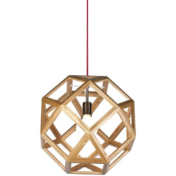 Modern Style Square Geometry Wooden Pendant Light 188 Liked On Polyvore Featuring Home Lighting Wooden Pendant Lighting Wooden Shades Wood Pendant Light