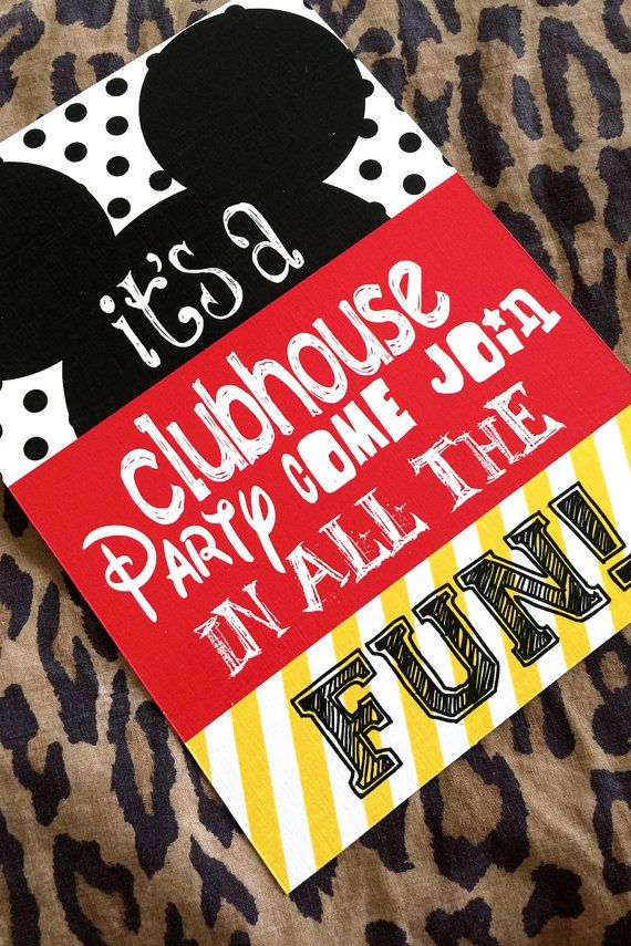 DIY Mickey Mouse Clubhouse Birthday Fun Party Invitation by ...