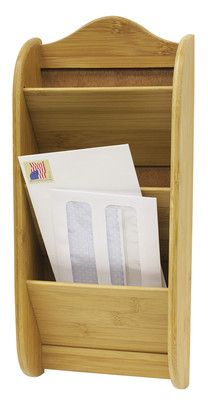 New Three Tier Wooden Bamboo Mail And Letter Wall Rack Letters Organizer