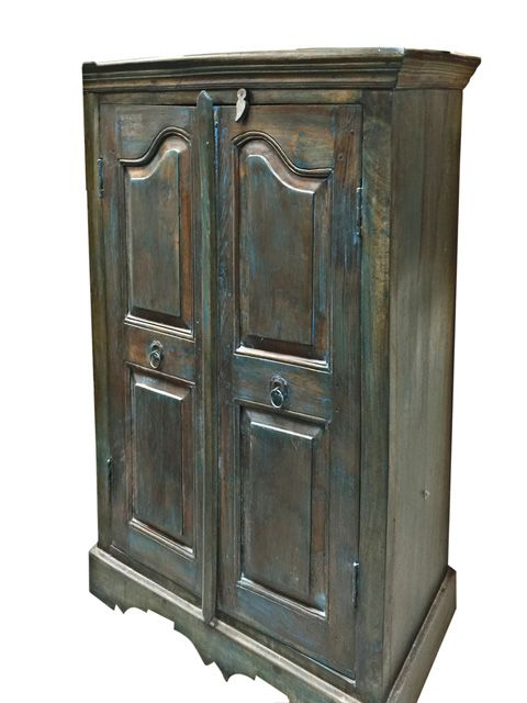 India Furniture Storage Armoire Antique Teak Wood Cabinet Buffet