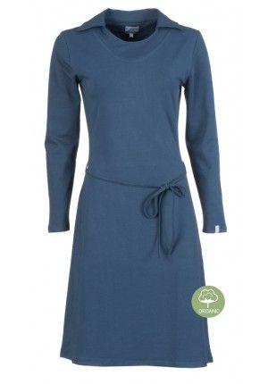 Zendee Dames Cotton Zazou Herfst Blue Basic 2017 Jurk Organic nl FKcT3l1uJ