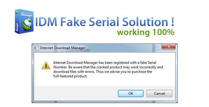 cara menghilangkan idm fake serial number 2017