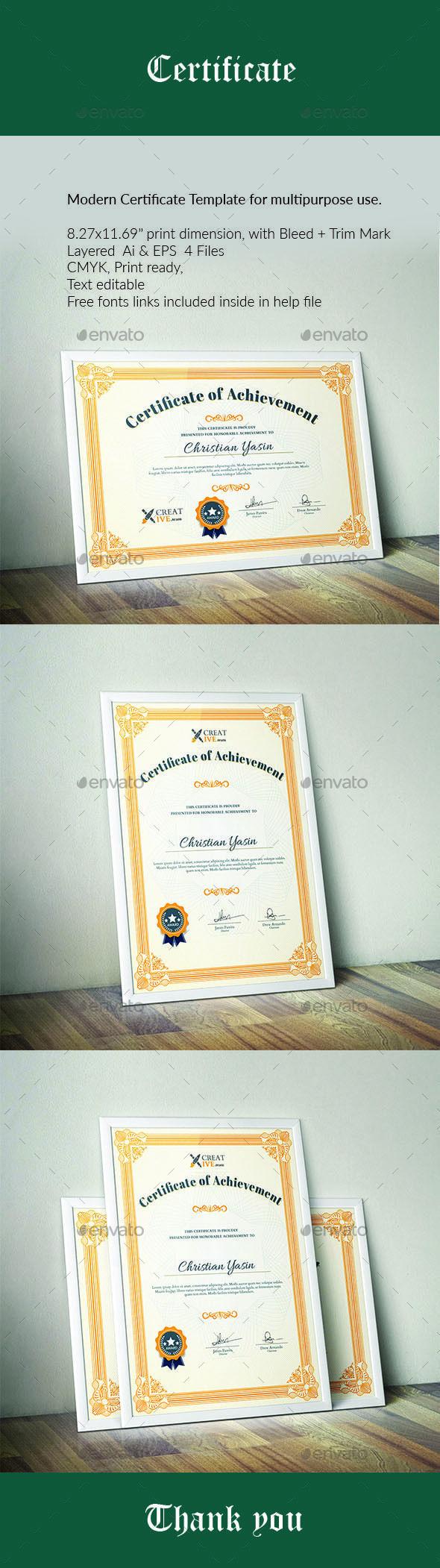Modern Certificate Template | Pinterest