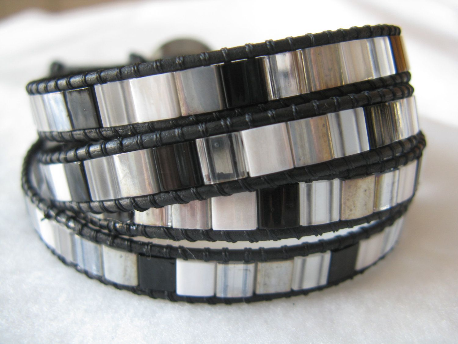 Shades of Grey Chan Luu Inspired Leather Wrap Bracelet. $30.00, via Etsy.