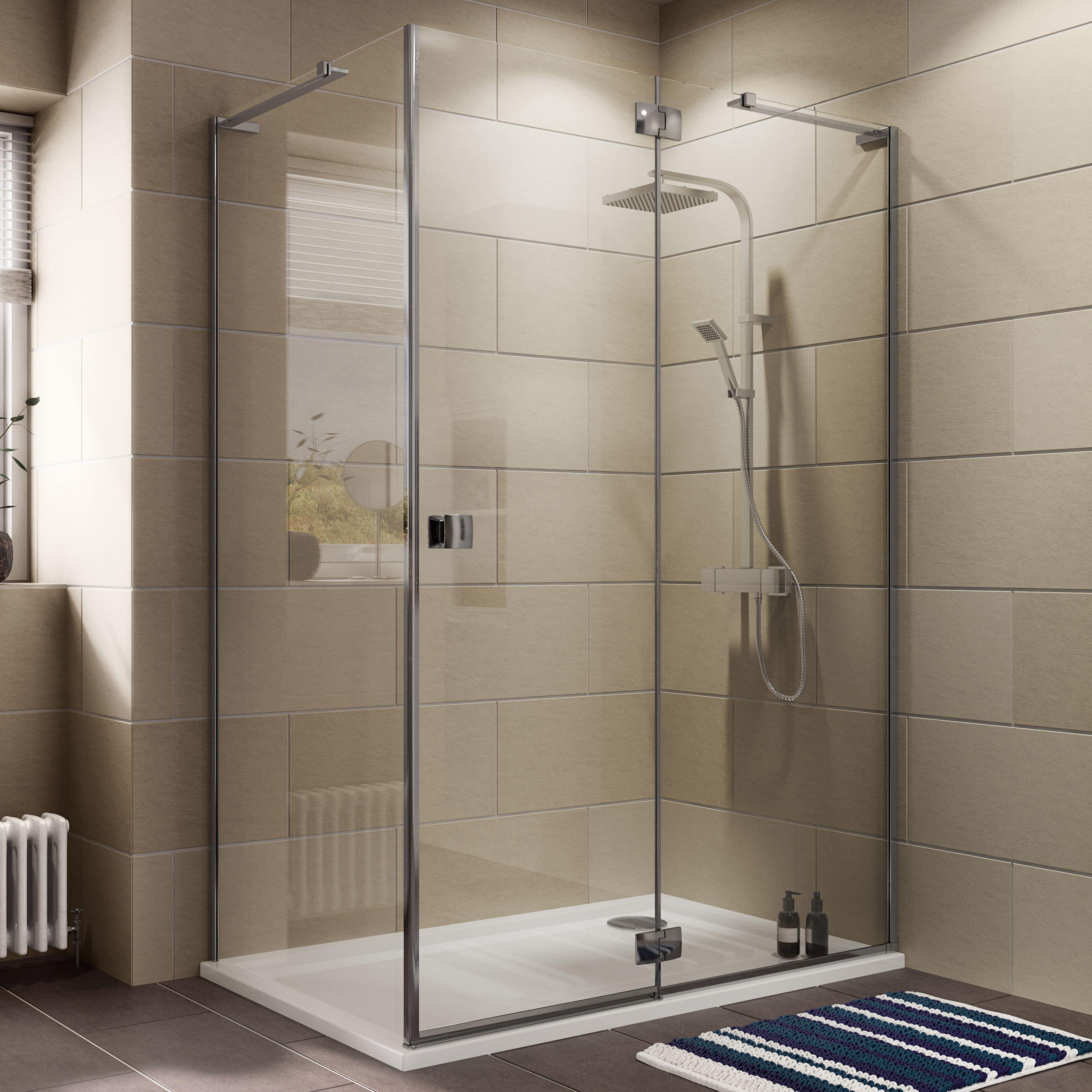 Cooke & Lewis Luxuriant Rectangular Shower Enclosure, Tray & Waste ...