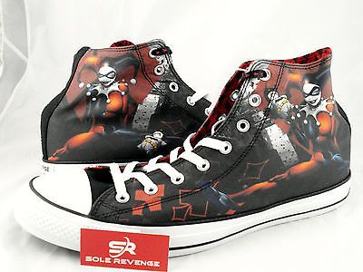 7b31cafd5ce1 New Converse MEN HARLEY QUINN All Star Chuck Taylor DC Comics Shoes Batman  Joker