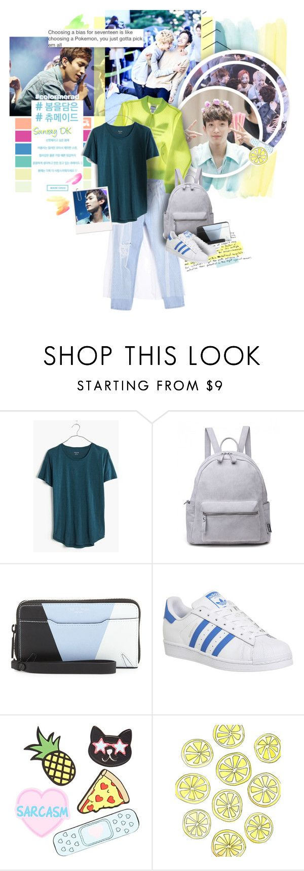 """I used to need wake-up calls in the morning"" by muzikgurl ❤ liked on Polyvore featuring Madewell, rag & bone, adidas and Forever 21"