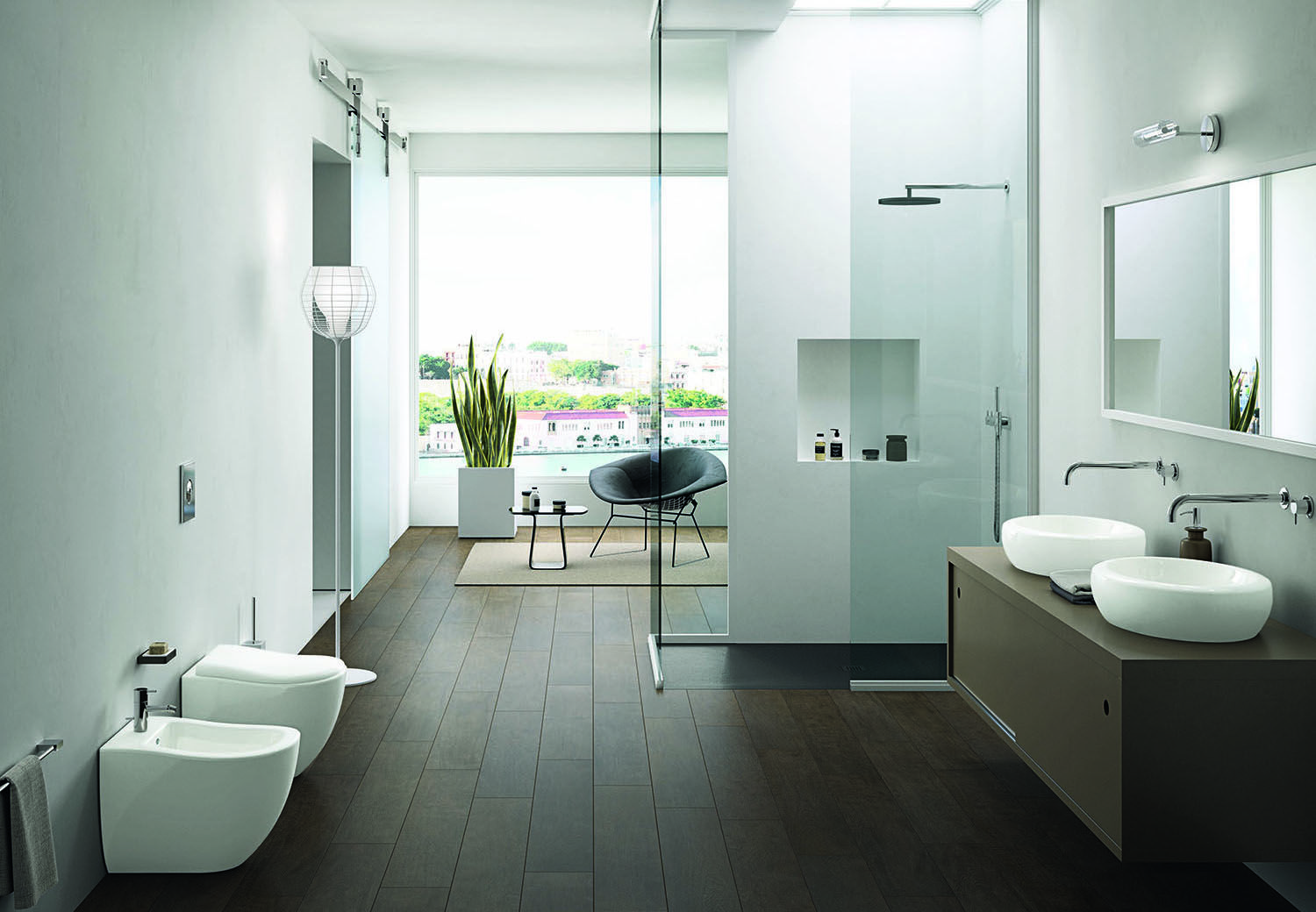 Bathroom Fixtures Plus sinewy lines and subtle contours abound in organic bathroom