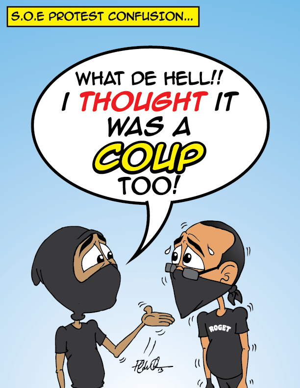 #Trinidad #Protest #Coup #Funny