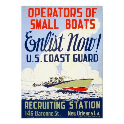 u s coast guard enlist now poster