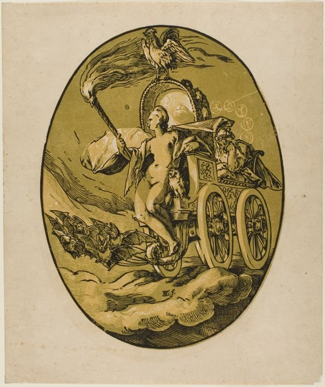 Night Goddess Of The Night 158890 Hendrick Goltzius A Woodcut