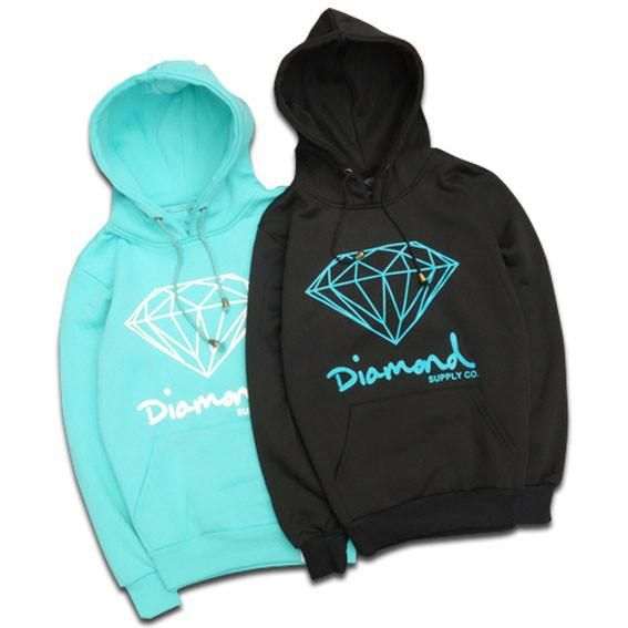 Diamond Supply Co Men/'s Essential Pullover Hoodie Black Clothing Apparel Hood