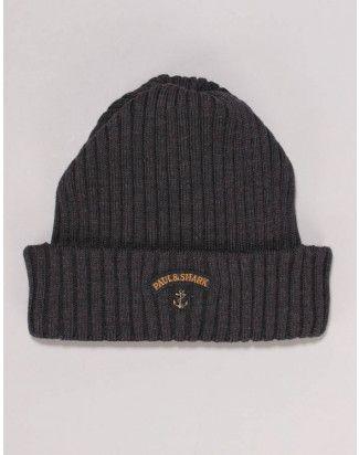 c895ca7ab77ceb Paul & Shark Grey Logo Beanie Hat | Mens Autumn Essentials | Paul ...