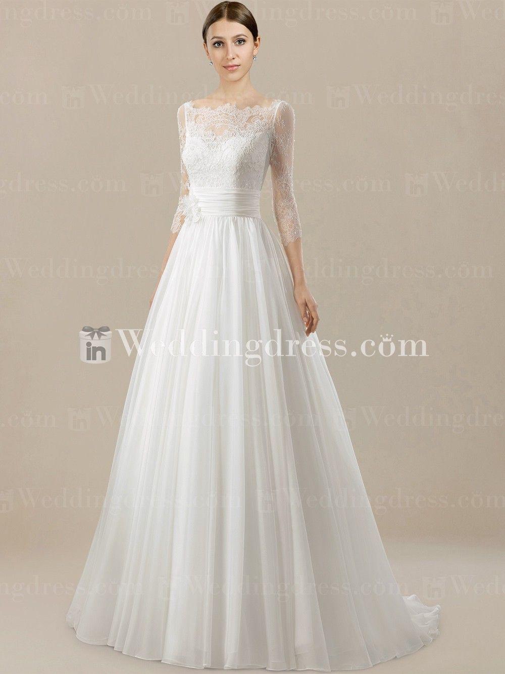 Simple Wedding Dress Sleeves - Informal Wedding Dresses for Older ...