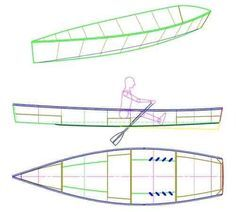 27 15 1/2 ft Rowboat   easy, pretty, plywood Rowboat Plan