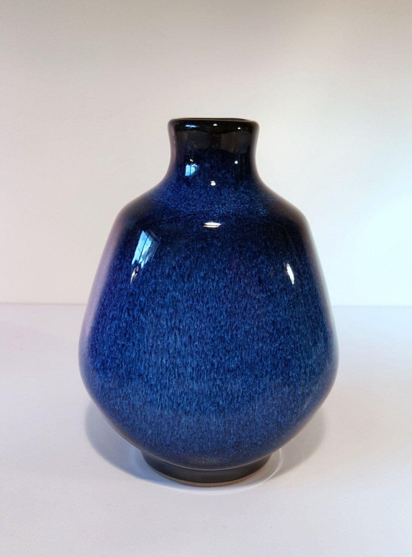 Vintage japanese blue and black flambe drip glaze vase made in vintage japanese blue and black flambe drip glaze vase made in japan early 20th reviewsmspy
