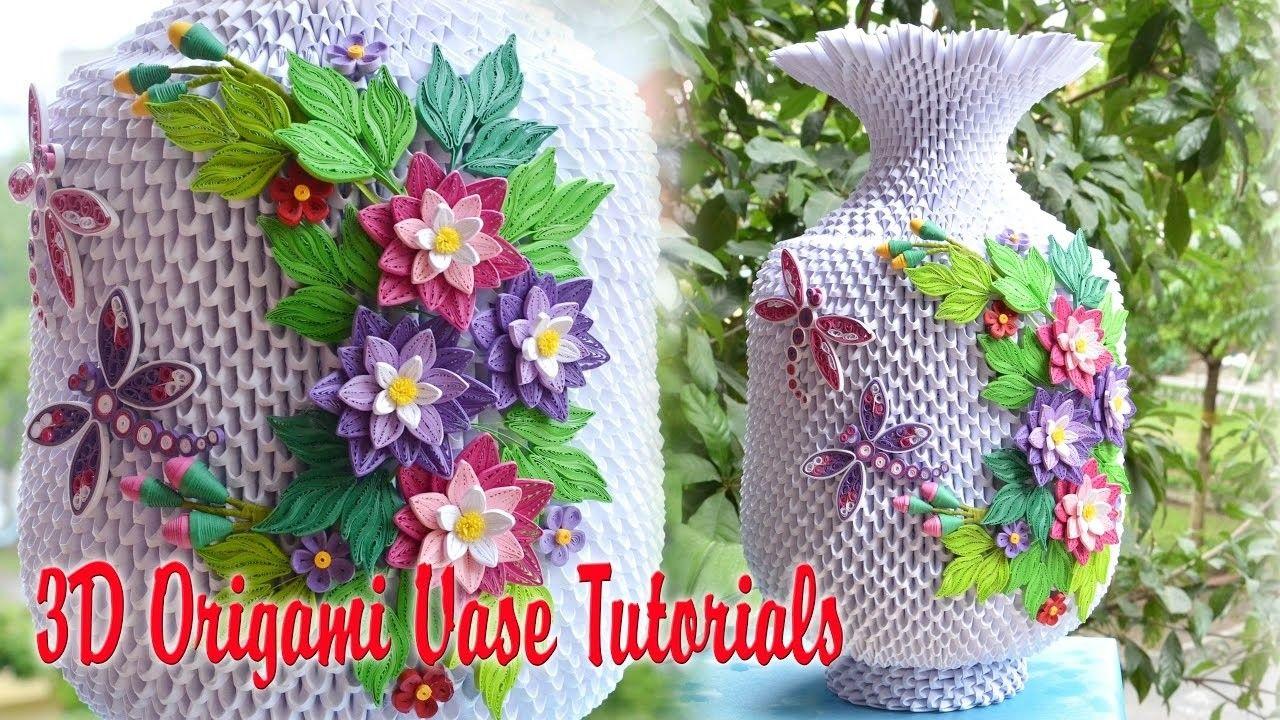 How To Make 3d Origami Vase V3 Part 1 Papercraft Pinterest