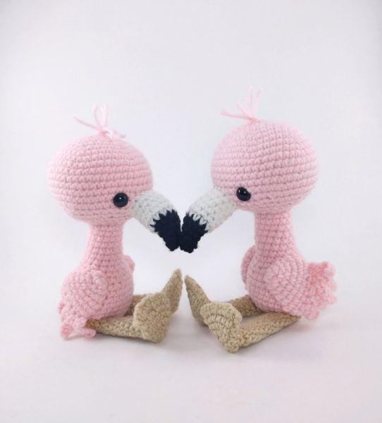 Pink Flamingo amigurumi pattern by Theresas Crochet Shop   Flamenco ...