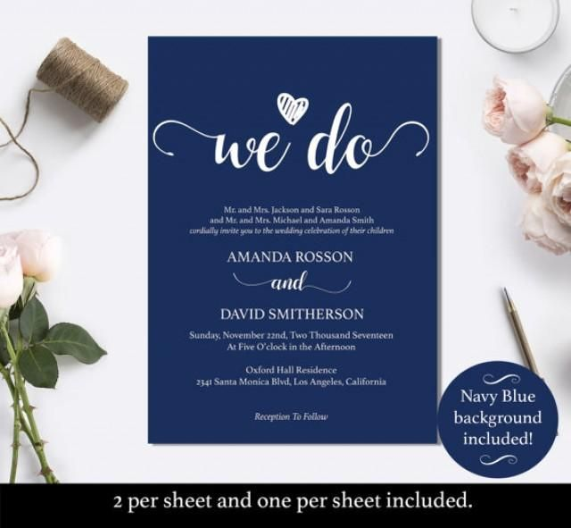 Find The Perfect Navy Blue Wedding Invitation For Your Special Day By Color Style And Budget This Rustic Chic Is Fast