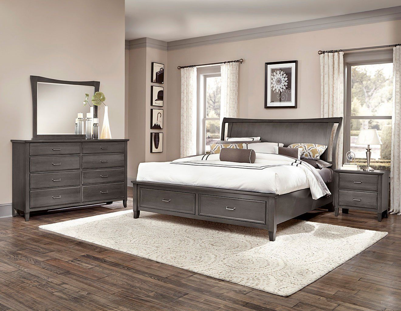 The Commentary Steel Wing Storage Bedroom Set by Vaughan