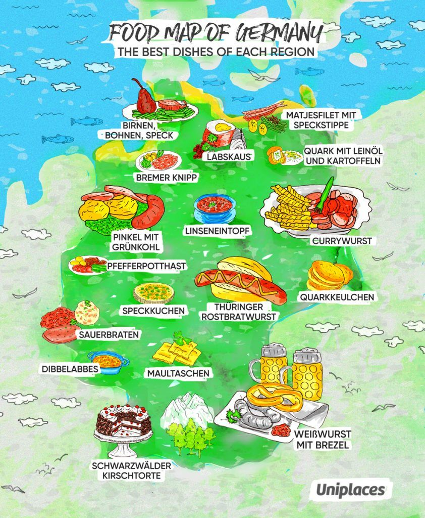 Regional Food Map Infographic Of Germany Food Map Regional Food