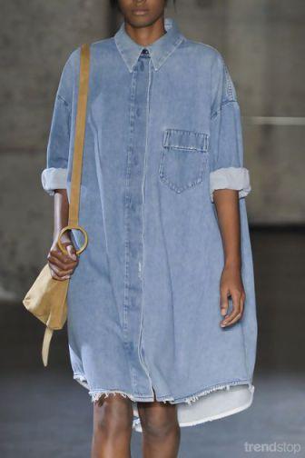 fecacf44f181 Oversized Shirt Dress by MM6 Maison Martin Margiela. Denim.