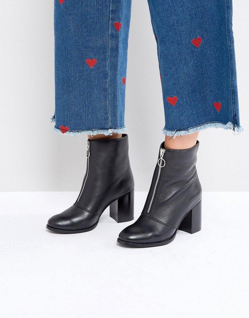 60805384865 Faith Bip Front Zip Ankle Boots - Black