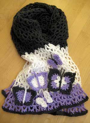 Patrones de mariposa #Crochet - modelo rodeo libre de Mooglyblog.com ...