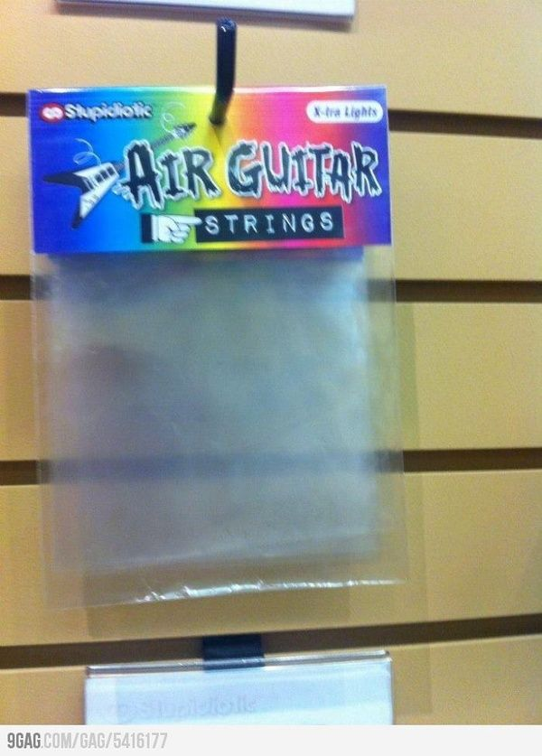 Air guitar strings funny-shizzle | Funny | Pinterest | Luftgitarre ...