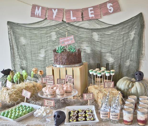 Zombie Birthday Party Ideas for Kids wwwspaceshipsandlaserbeamscom