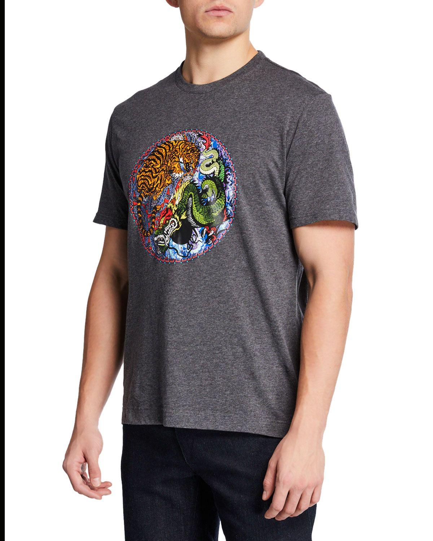 Robert Graham Mens Yin /& Yang Graphic Tshirt