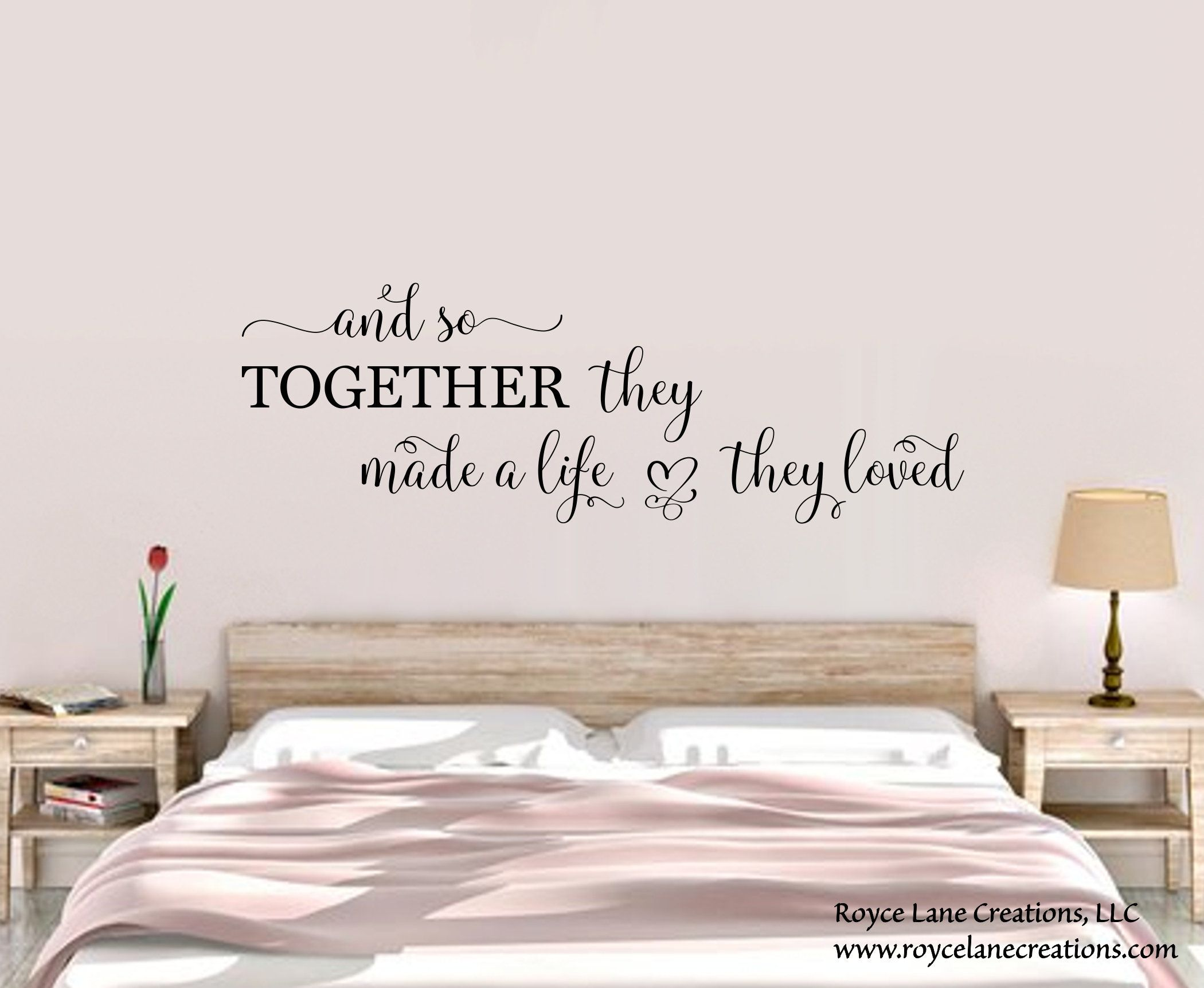bedroom wall decal and so together they built a life they on wall stickers for bedroom id=28146