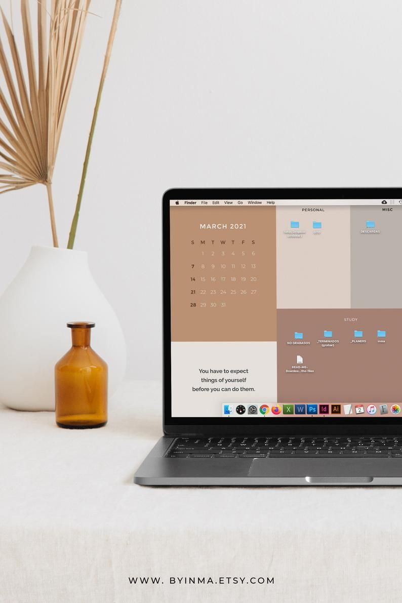 Desktop Wallpaper Organizer For Students Minimalist Wallpaper For School And College 2021 2022 Calendar And Quotes Folder Icons Included Desktop Wallpaper Organizer Minimalist Desktop Wallpaper Desktop Wallpaper Macbook