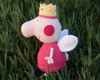 Amigurumi Tutorial Peppa Pig : Crochet peppa pig princess pdf pattern crochet