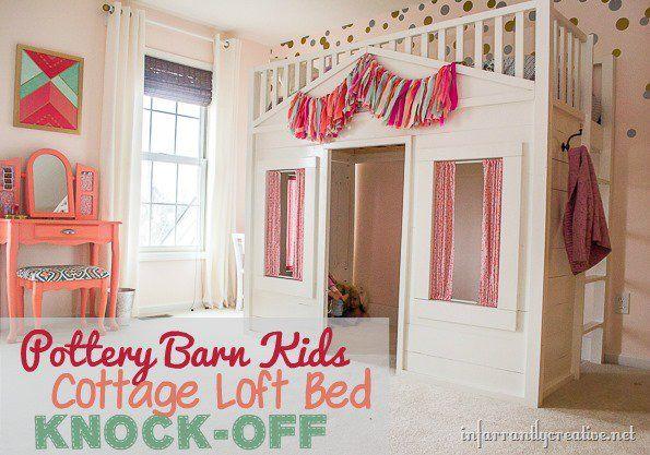 DIY HOME DECOR | Pottery Barn Kids Cottage Loft Bed KNOCK-OFF
