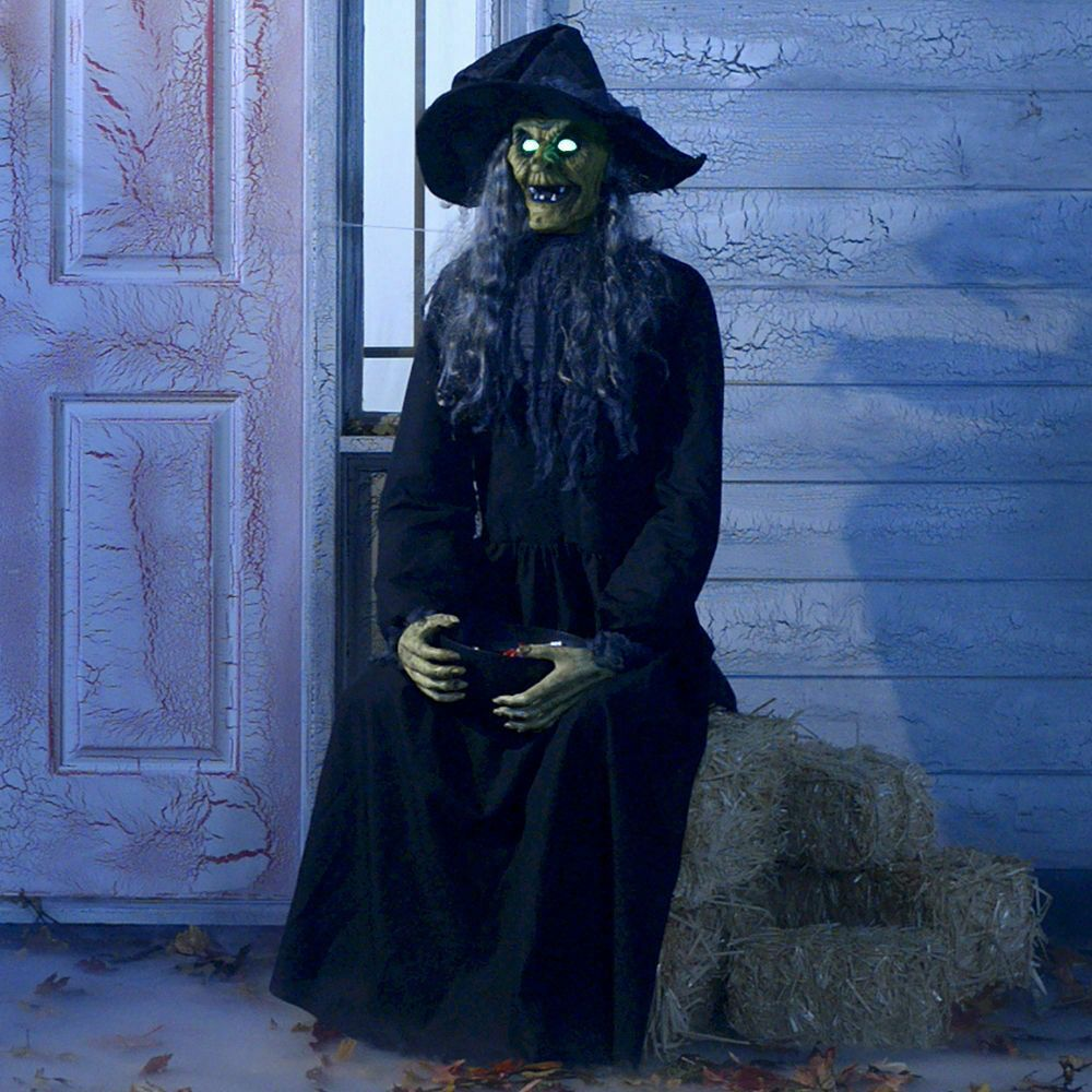 Indoor and Outdoor Decor Animated Haunted Witch Halloween Animatronic Prop