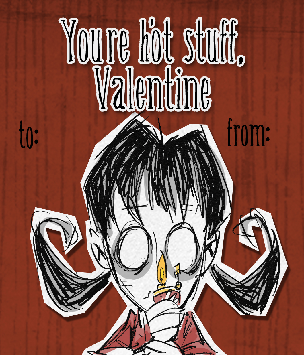 Don T Starve Willow Valentine Card Videogame Art Don T Starve