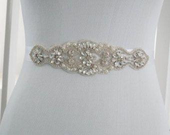 Wedding Sash, Bridal Belt, Wedding Sash Belt, Crystal Rhinestone Belt, Bridesmaid Sash, Style 147