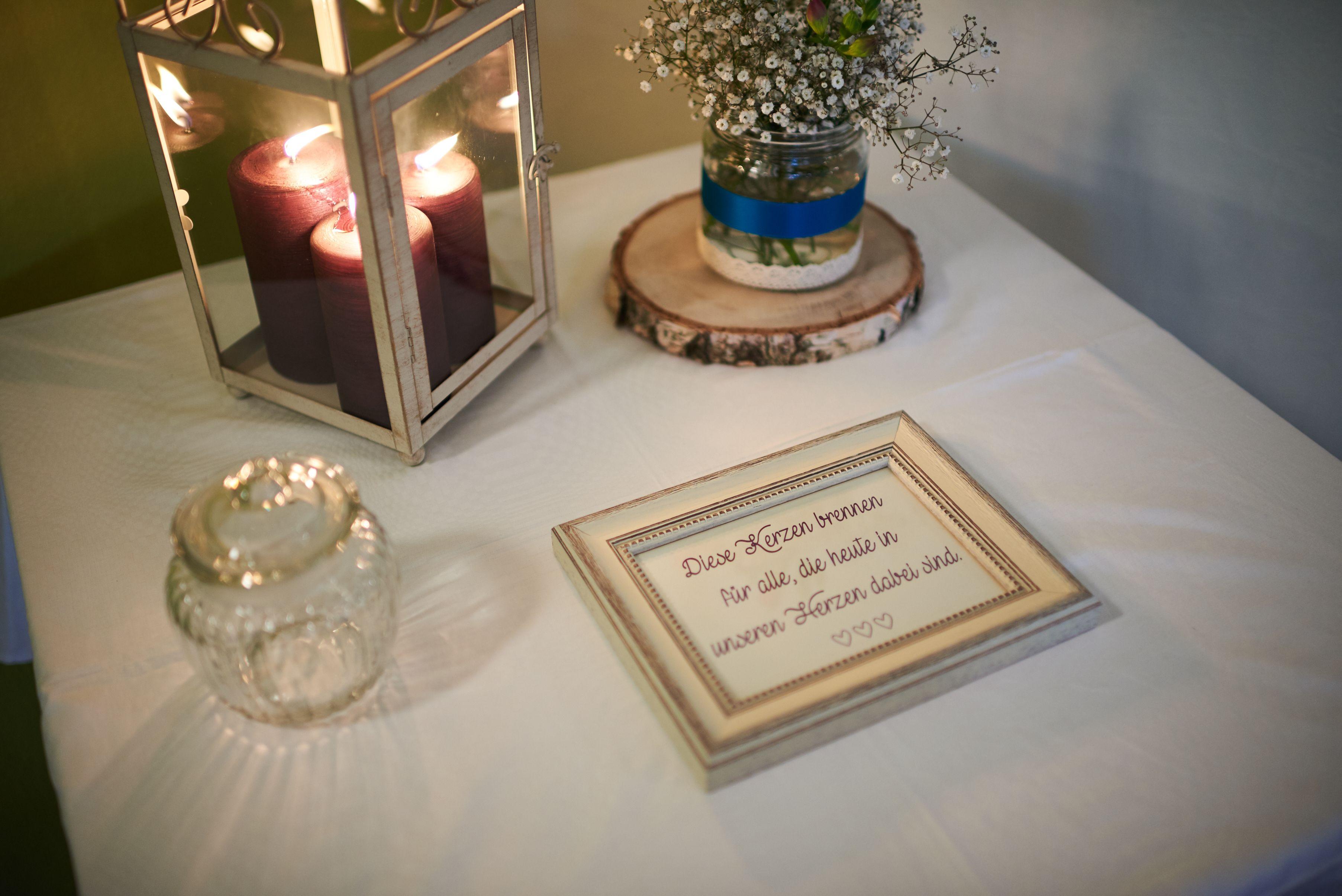 Memorial Tisch Hochzeit