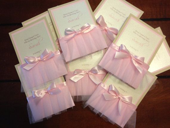 tutu birthday invitations