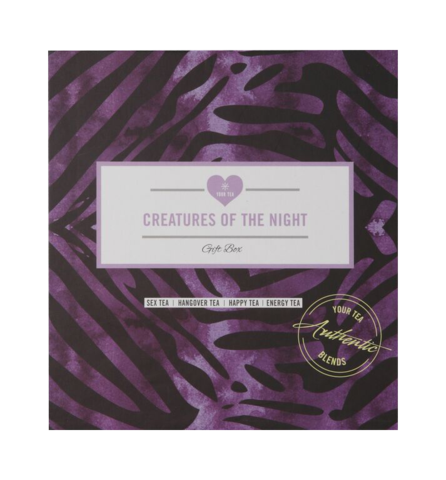 Containing Sex Tea, Hangover Tea, Happy Tea & Energy Tea, our Creatures of The Night gift box is perfect for a great night. Free shipment for orders over $60.